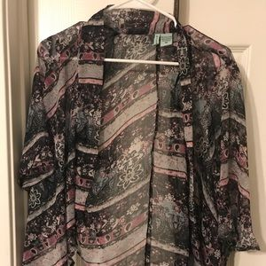 Sheer summertime cover up cardigan.